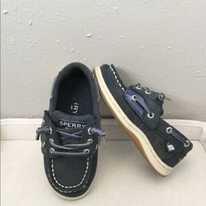Sperry navy blue slip on shoes